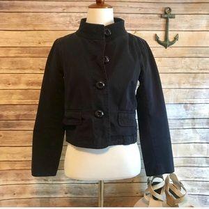 ❤️J. Crew Navy Classic Twill Chino Jacket Size 2